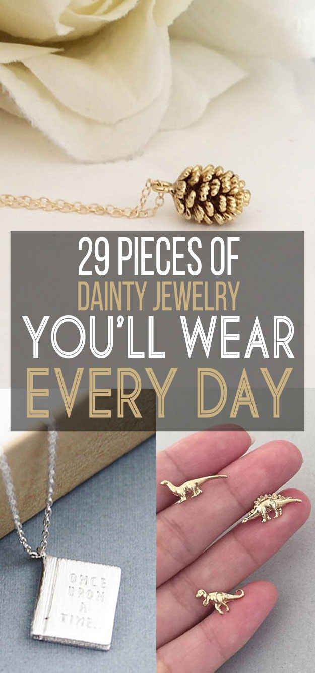 29 Delicate Pieces Of Jewelry You'll Never Take Off | yep, I want almost all of them