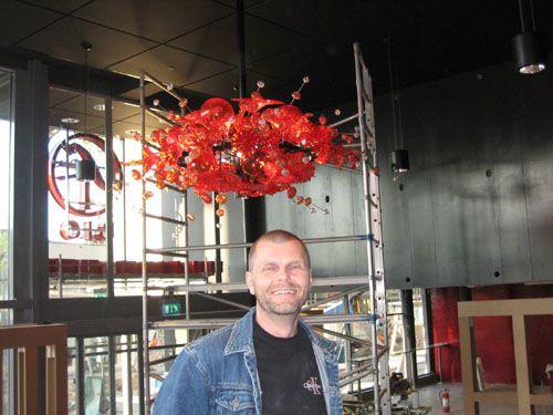 Peter Nilsson skaparen bakom bl a den fantastiska ljuskronan Kumulus som blivit väldigt uppmärksammad även internationellt.
