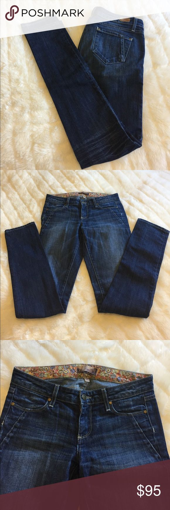 """‼️SALE‼️ ADORABLE Paige Skyline Drive Skinny Jeans. Size 26"""", inseam: 33.5. Only worn a few times, still in great, close to new condition. I am SO sad to part with these, but I've gained weight since I bought them, and they're just too small for me. That being said, they fit true to size. This is my favorite style of Paige jeans, they look super good on, & can be dressed up or down. Paige Jeans Jeans Skinny"""