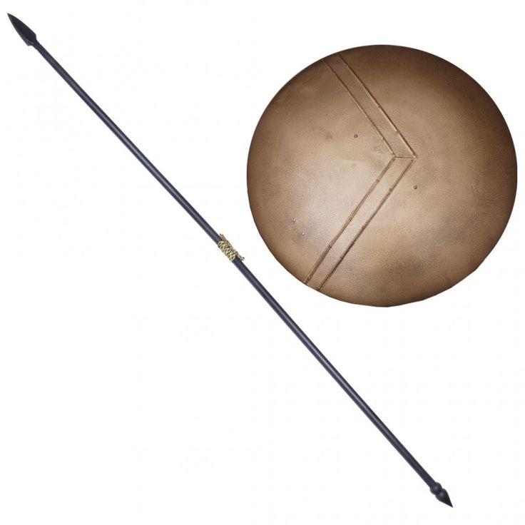 300 spartan shield and spartan warrior spear spartan