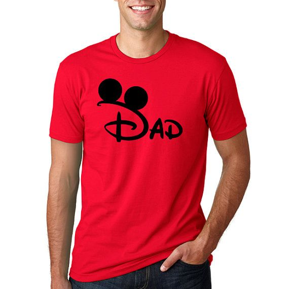 "Disney's ""Disney Mickey Dad"" Shirt // Disney Family Vacation Shirts // Men's Disney Shirt // Plus Size Disney T-Shirts // Vacation"