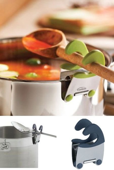 Trudeau's revolutionary invention, the #pot clip ($6.00), is a must have for all cooks. A practical, space and sauce saving little utensil…it'll make you wonder how you got along without it. Great way to save space, waste less and make clean up a snap!
