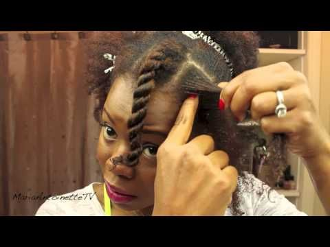 This is how I learned to flat twist!!! She is wonderful! How to Flat Twist Natural Hair – Video Tutorial   the Maria Antoinette