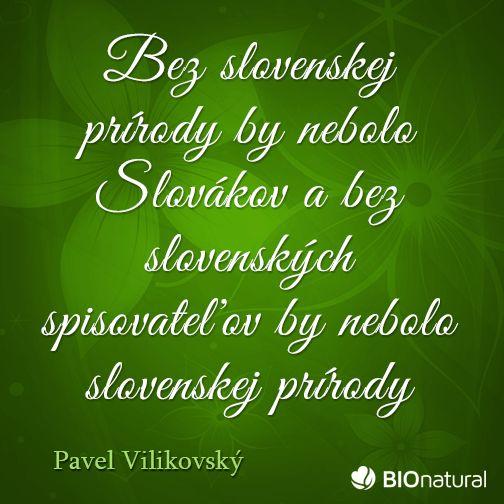 Citát o prírode od Pavla Vilikovského