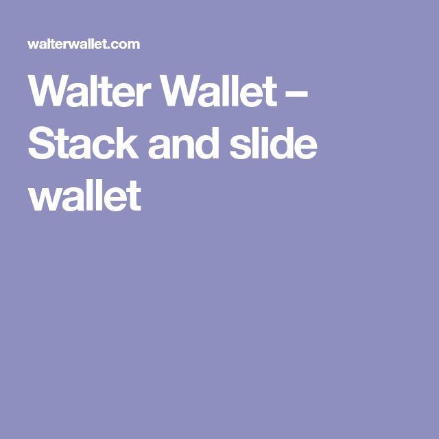 Walter Wallet – Stack and slide wallet