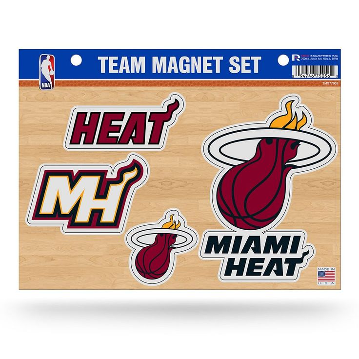 Miami Heat Team Magnet Set, Multicolor