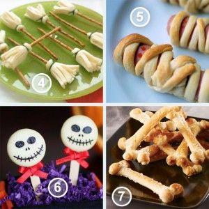 Met Halloween krijg je vaak snoep. Veel snoep! Het hoort er natuurlijk een beetje bij, maar het kan geen kwaad om ze eens wat gezondere dingen te geven. Deze snacks zijn leuk, griezelig en gezonder dan snoep! Denk aan een mummie appel, spookbananen en ander fruit, of aan zoute botjes of bezemsteeltjes met kaas! Ook als je kind rond deze tijd op school wil trakteren in het Halloween thema zijn deze snacks een geschikte keuze.