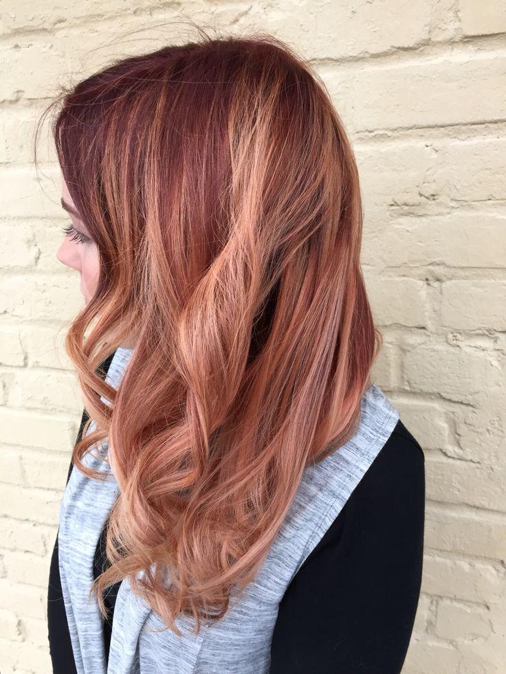 Apricot Blonde Sombre Xostylistxo Tintura