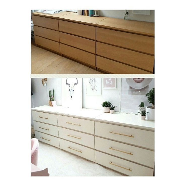Before And After Ikea Hack Malm Drawers Ikea Hacks