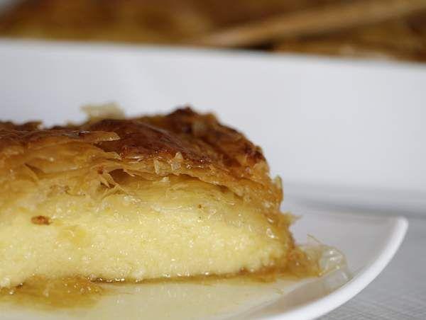 Галактобуреко: греческий манный пирог из теста фило