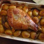 Image of Turkey leg in the oven | Food From Portugal