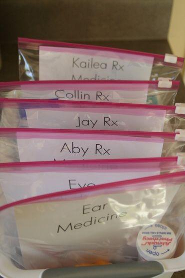Organizing medicines...