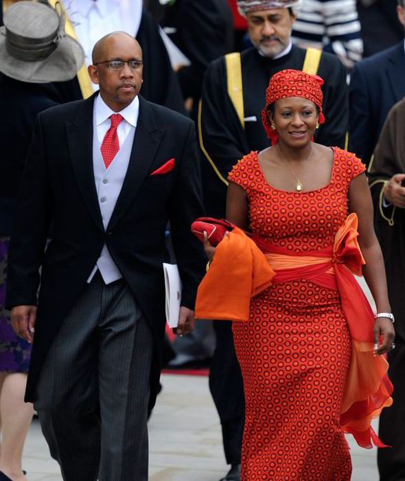 The lovely royal couple of Lesotho, Prince Seeiso and Princess Mabereng.