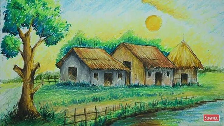 For Kids Oil Pastel Art Landscape Drawings Oil Pastel