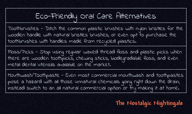 Day 4: Eco Friendly Oral Care Alternatives & Habits - thenostalgicnightingale.blogspot.com