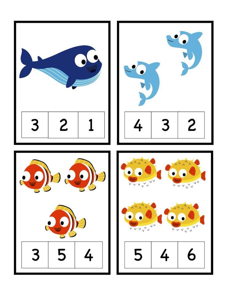 Preschool Printables Ocean Teaching Ideas Pinterest