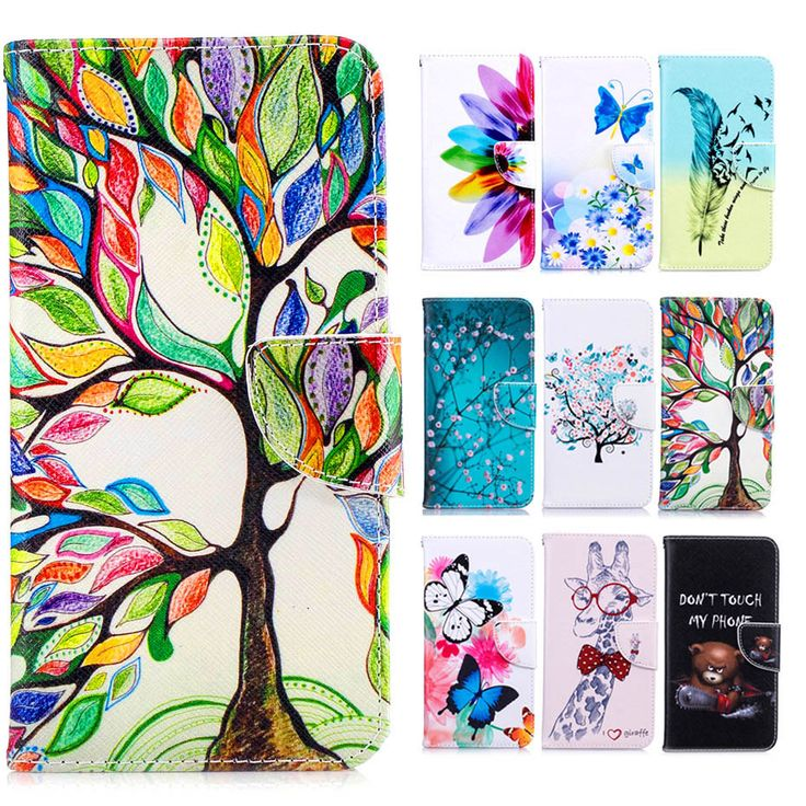 nice For LG G6 G5 Case Fashion Colorful Magnetic Flip Wallet PU Leather Painted Cases For LG G3 G4 Cover With Stand Card Slot
