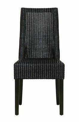 Lloyd Loom Dining Chair Black - £293.00 - Hicks and Hicks