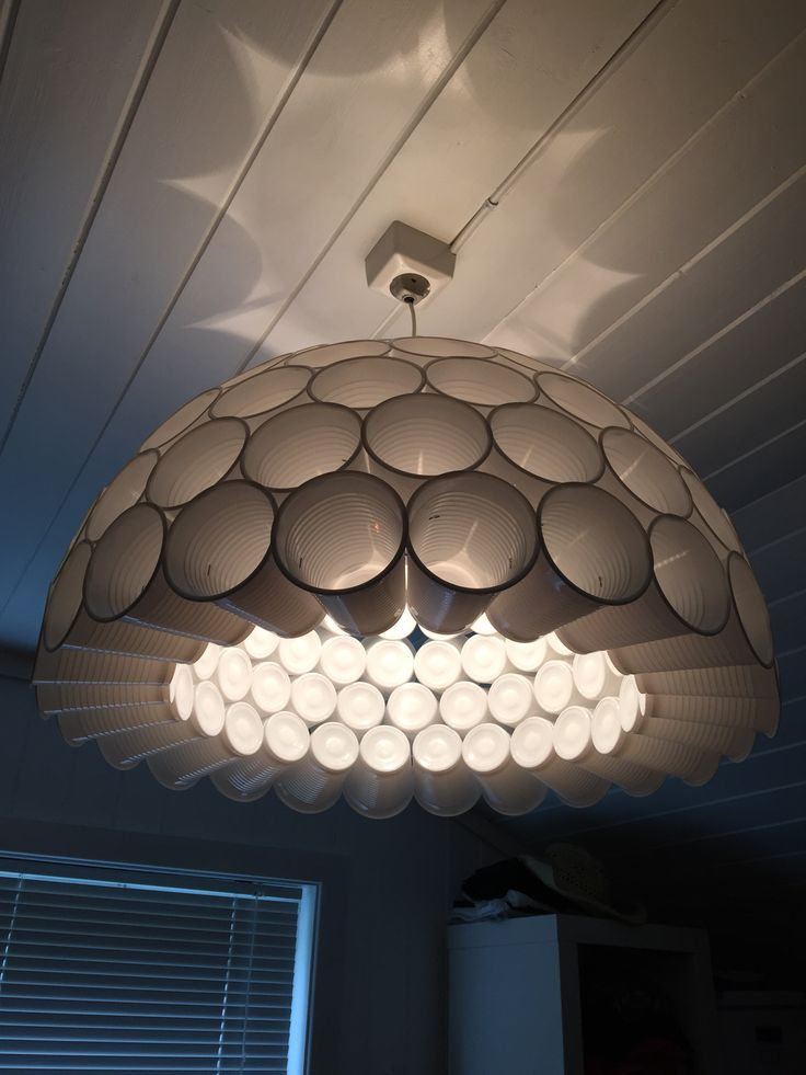 My version of the plastic cup lamp!