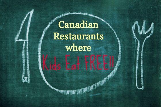 Canadian Restaurants where Kids Eat Free
