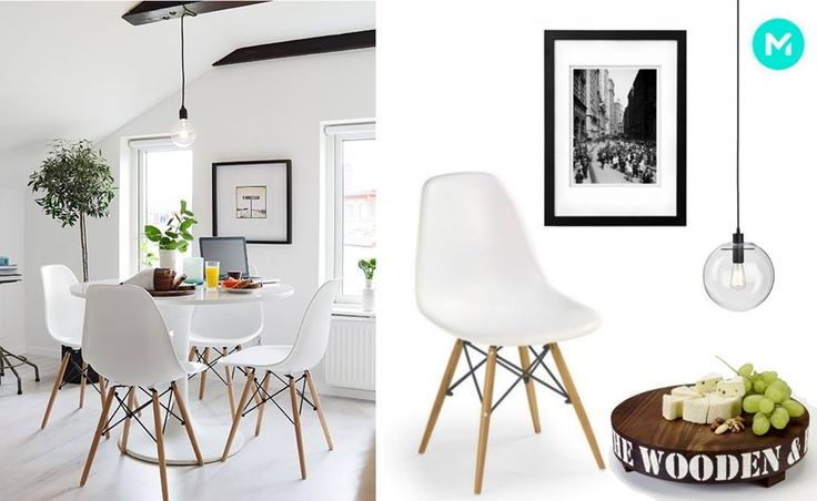 Adjust the accessories to modern kitchen with MyBaze stylists #scandinavian #kitchen #chair #whitechair