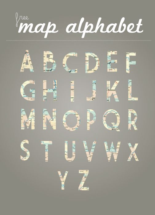 free Font Friday | Map Alphabet (and more fonts too)