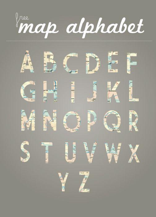 Map alphabet png files