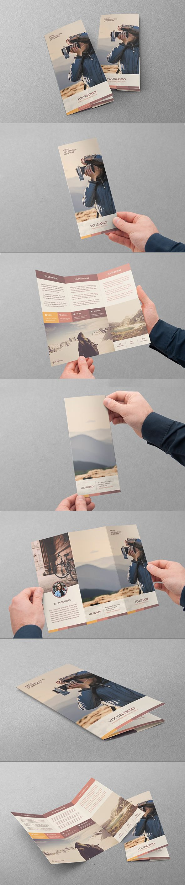 Retro Vintage Hipster Trifold. Download here: http://graphicriver.net/item/retro-vintage-hipster-trifold/11084095?ref=abradesign #trifold #brochure #design