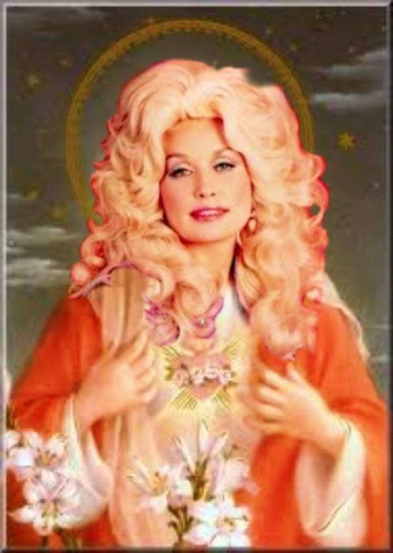 Saint Dolly Parton prayer candle $6.99... @Samuel Solomon