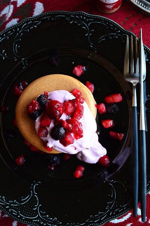 スイスダイヤモンド パレットパン シナモン香るピンクのパンケーキ
