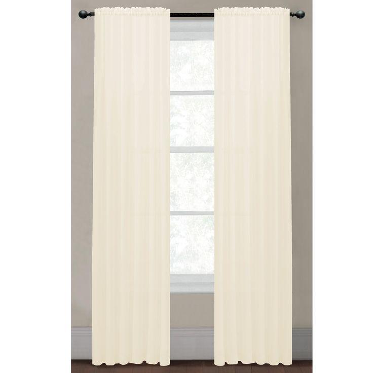Captivating Solid Voile Sheer Rod Pocket Extra Wide Curtain Panel For Extra Wide Curtain Panels