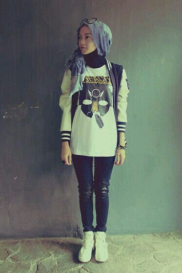 Casual style for hijab