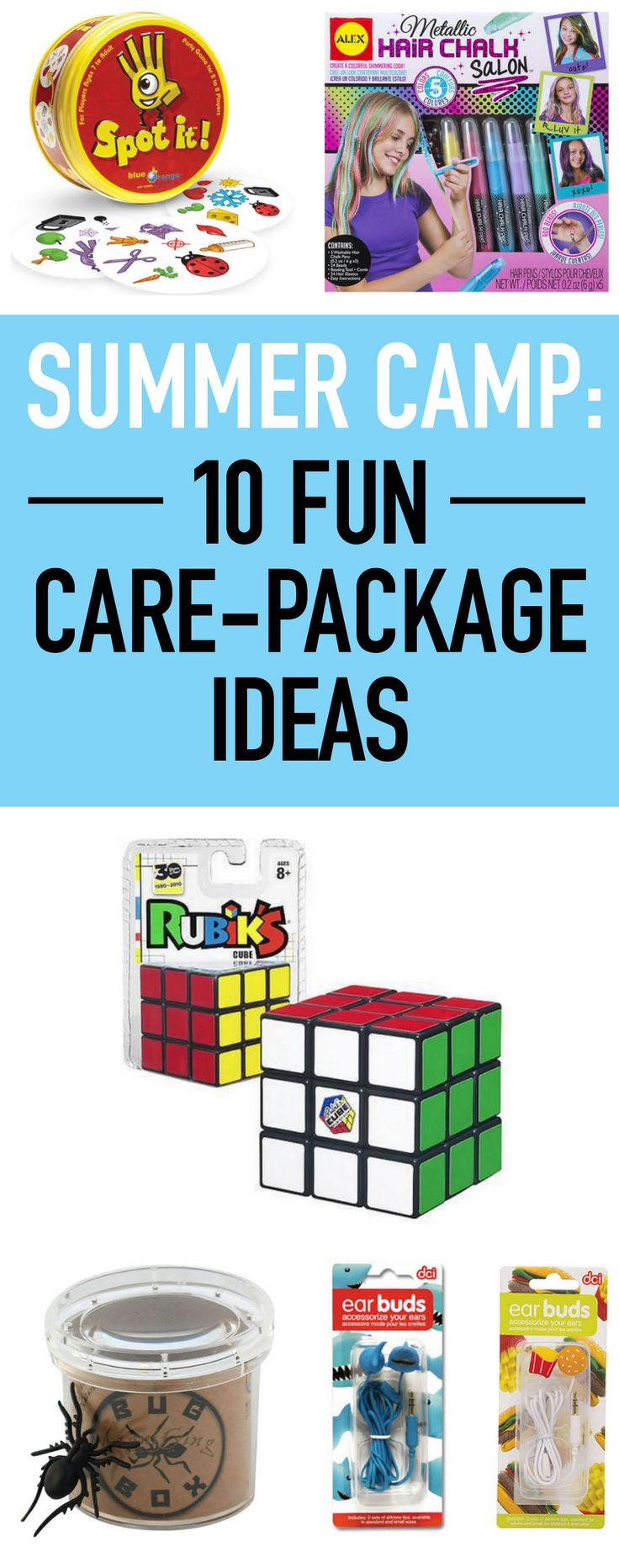 Surprise your kids with these fun care-package ideas. #carepackages #summercamp