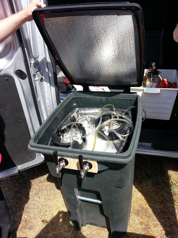 Portable Kegerator That Holds Four 5 Gallon Kegs Made