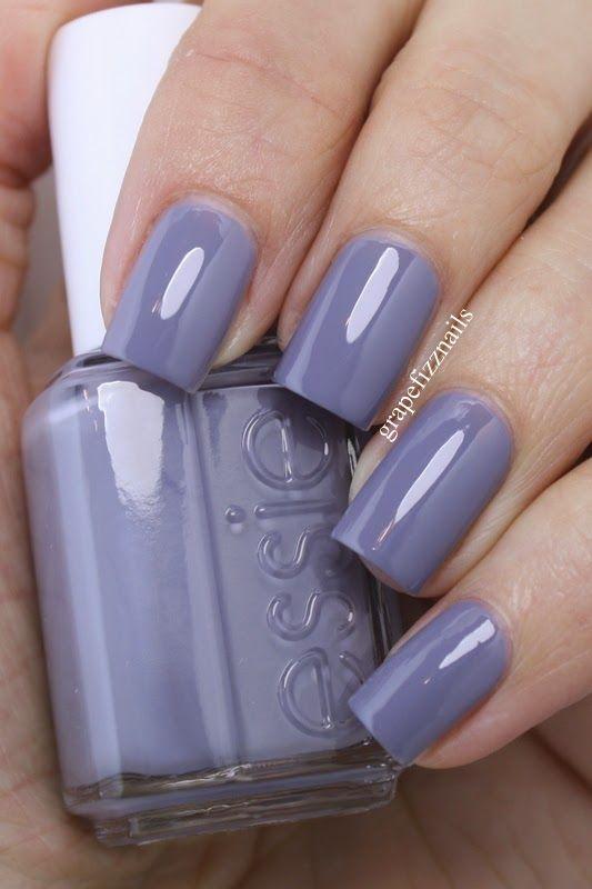 grape fizz nails: Essie Petal Pushers