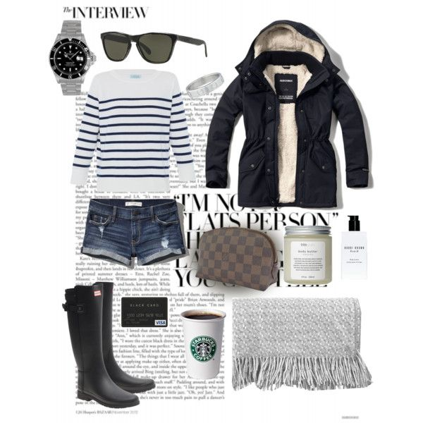 Morning Walks at the Marine by mariannatriadou on Polyvore featuring polyvore, fashion, style, HANIA by Anya Cole, Abercrombie & Fitch, Hunter, Louis Vuitton, Rolex, Cartier, Oakley, Très Pure, Bobbi Brown Cosmetics and canvas