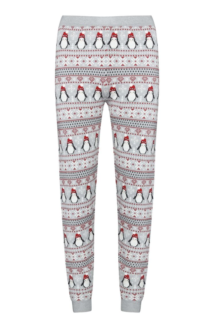 Primark - Grey Penguin Christmas Legging