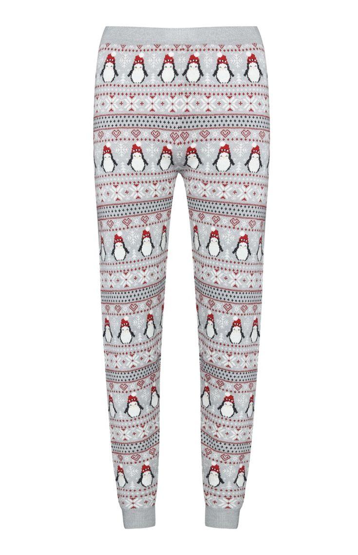 Primark - Grey Penguin Christmas Legging