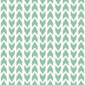 Mint Arrows fabric by jesskiser