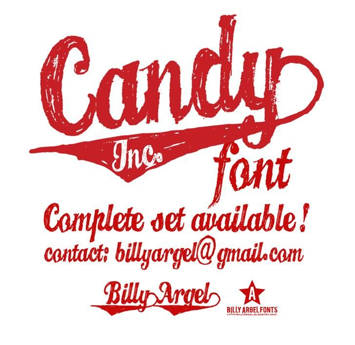 CANDY INC. font by Billy Argel - FontSpace