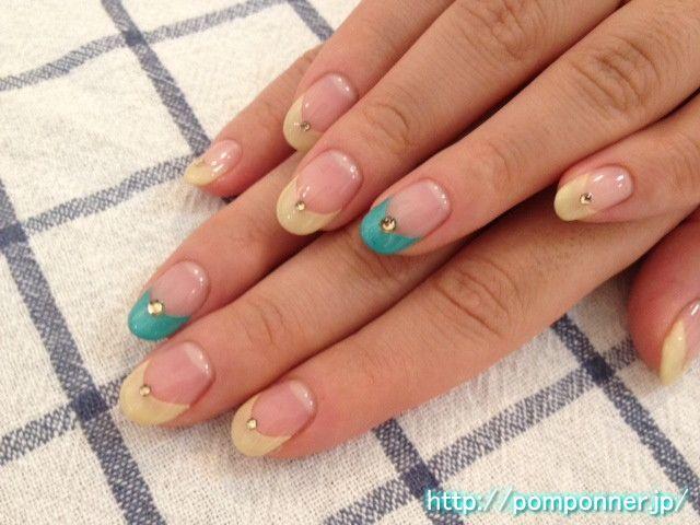 シンプルなフレンチネイル french nail simple