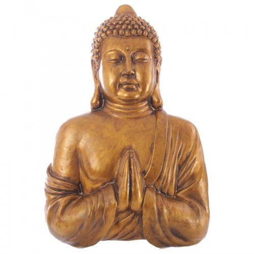 Garden Thai Buddha Praying Plaque (BUD230) by www.goldengoosegifts.co.uk