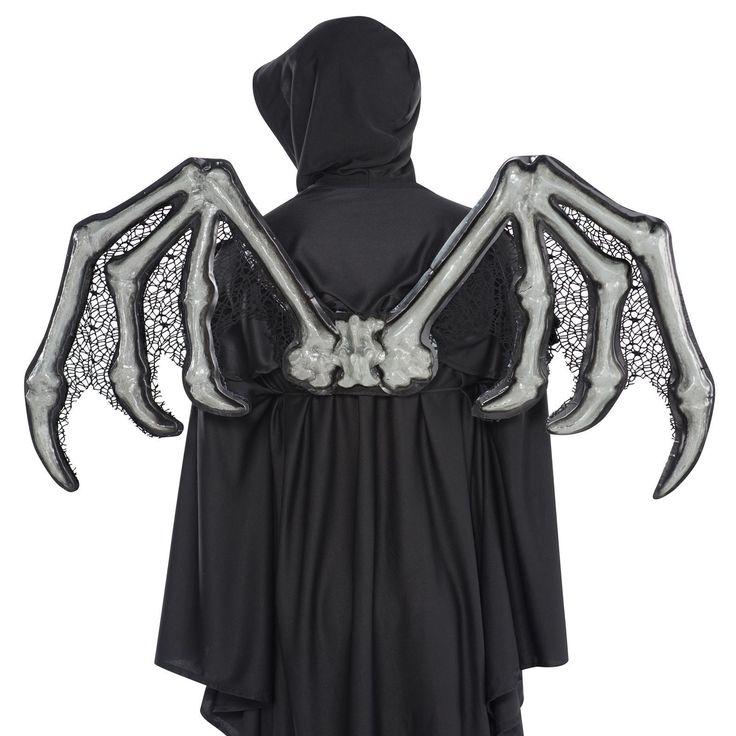 Adults 3D Skeleton Bone Gothic Wings Halloween Zombie Nightmare Bat Fancy Dress | eBay