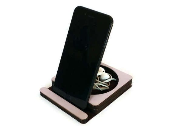 Phone stand with desk caddyschool suppliescute office by LOHNtech
