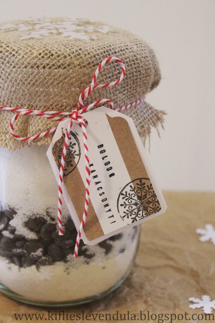Gasztroajándék - mézeskalácsos brownie üvegben