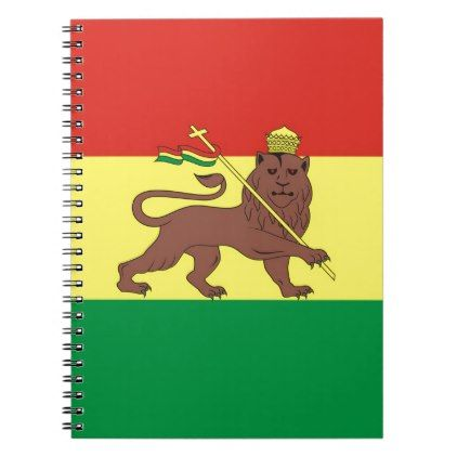 #Old Ethiopian Flag with Lion of Judah Notebook - #office #gifts #giftideas #business