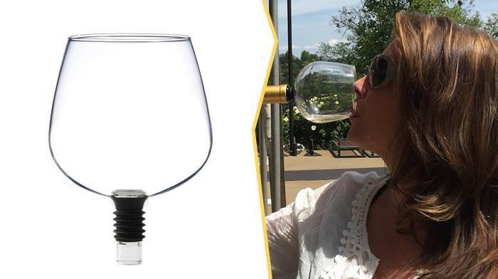 Keren! Nggak Perlu Susah Dengan Botol, Gelas Anggur ini Membuat Siapapun Minum Lebih Cepat!