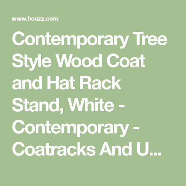 Contemporary Tree Style Wood Coat and Hat Rack Stand, White - Contemporary - Coatracks And Umbrella Stands - by Pilaster Designs