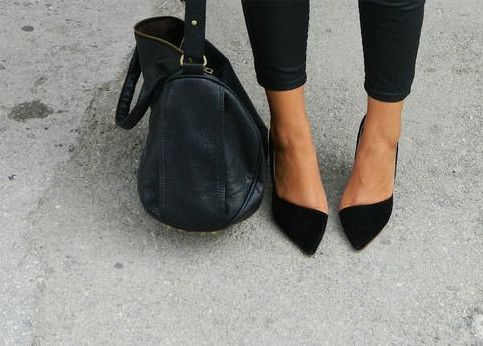Meet Your Match: Skinny Pants + Pointy Flats via @PureWow