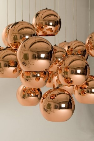 Tom Dixon copper pendants - I am obsessed with these!
